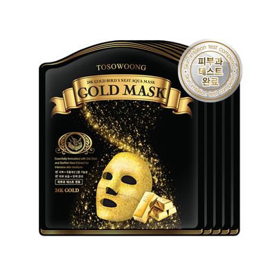Tosowoong 24K Gold Bird's Nest Aqua Mask 5pc 5sheets