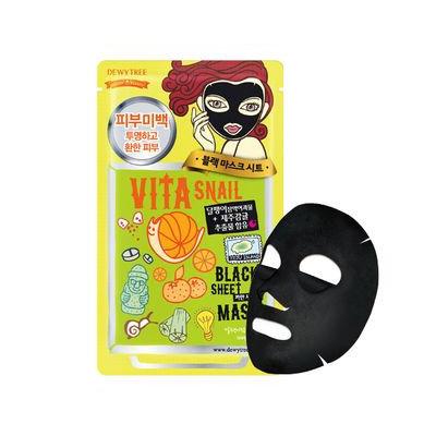 Dewytree Vita Snail Black Mask 10pcs 30g x 10sheets