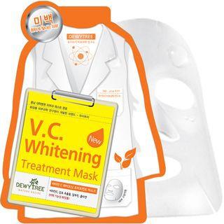 Dewytree V.C Whitening Treatment Mask 10pcs 10sheets