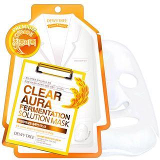 Dewytree Clear Aura Fermentation Solution Mask 10pcs 10sheets