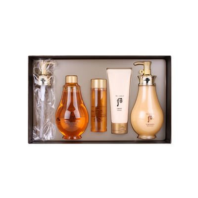 The History Of Whoo Whoo Spa Body Special Set: Oil Shower 350ml + 100ml + Moisturizer 350ml + 100ml 4pcs