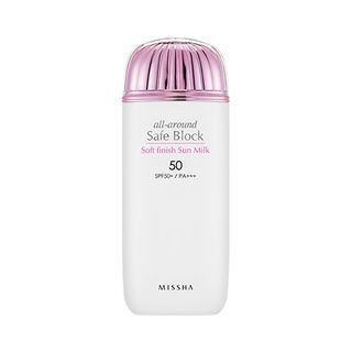Missha All Around Safe Block Soft Finish Sun Milk SPF50+ PA+++