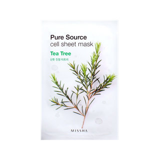 Missha Pure Source Cell Sheet Mask (Tea Tree) 1pc(21g)