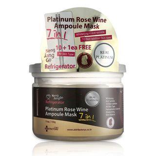 Skin Factory Seven Seconds Platinum Rose Wine Ampoule Mask 10pcs 11sheets