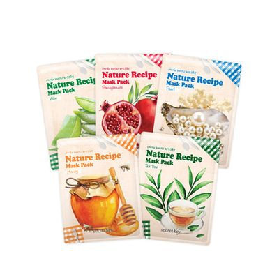 Secret Key Nature Recipe Mask Pack 1pc Pearl