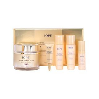 Iope Super Vital Cream Bio Excellent Rich Set: Cream 50ml + Softener 20ml + Emulsion 20ml + Serum 5ml + Eye Cream 3ml 5pcs