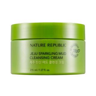 Nature Republic Jeju Sparkling Mud Cleansing Cream 215ml 215ml
