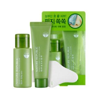 Nature Republic Bamboo Charcoal Nose & T-zone Pack: Toner 33ml + Pack 25ml 33ml + 25ml