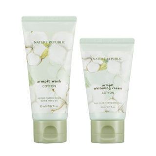 Nature Republic Cotton Armpit Kit: Cotton Armpit Wash 80ml + Cotton Armpit Whitening Cream 50ml 2pcs