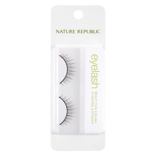 Nature Republic Beauty Tool Eyelashes (#01 Natural & Straight) 1 pair