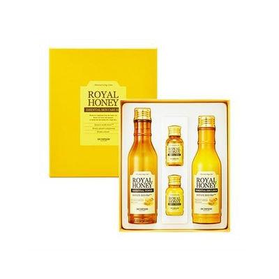 Skinfood Royal Honey Essential Skin Care Set: Toner 80ml + 20ml + Emulsion 80ml + 20ml 4pcs