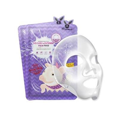 Elizavecca Bio Cling Whitening Aqua Mask 5pcs 25ml x 5sheets