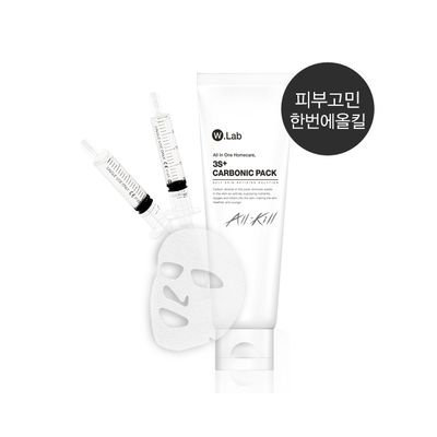 W.lab 3S+ Carbonic Pack: CO2 Gel 80ml + Mask sheet 4pcs + Disposable Syringe 2pc 1set