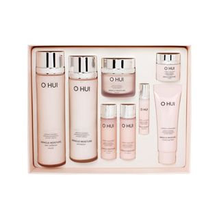 O Hui Miracle Moisture Special Set: Skin Softener 150ml + 20ml + Emulsion 130ml + 20ml + Cream 30ml + 7ml + Essence 3ml + Cleansing Foam 40ml 8pcs