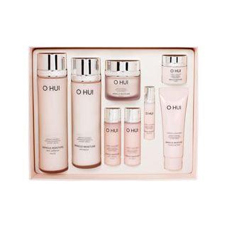 O Hui Miracle Moisture Special Set: Skin Softener 150ml + 20ml + Emulsion 130ml + 20ml + Cream 30ml + 7ml + Essence 3ml + Cleansing Foam 40ml 8pcs
