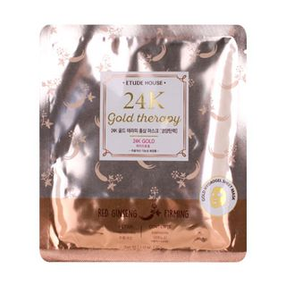 Etude House - 24K Gold Therapy Red Ginseng Mask (Firming) 1 pc