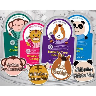 PROUD MARY - Animal Mask Pack 1pc (4 Types) Panda (Whitening Aqua)