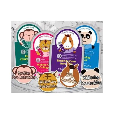 PROUD MARY - Animal Mask Pack 1pc (4 Types) Panda (Whitening Aqua)