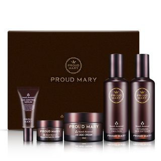 PROUD MARY - Stems Renewal Gift Set: Skin Softener 120ml + Emulsion 50ml + Cream 50ml + Serum 15ml + Eye Cream 10ml 5pcs