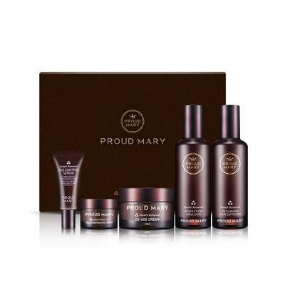 PROUD MARY - Stems Renewal Gift Set: Skin Softener 120ml + Emulsion 50ml + Cream 50ml + Serum 15ml + Eye Cream 10ml 5pcs