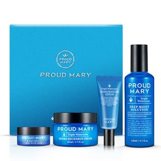 PROUD MARY - Triple Water Zone Line Set: Solution 120ml + Cream 50ml + Serum 15ml + Eye Cream 10ml 4pcs