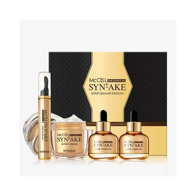 Dr.phamor DR. PHAMOR - McCELL SKIN SCIENCE 365 Syn-Ake Gold Special Edition: Cream 50ml + Eye Serum 15ml + Ampoule 30ml x 2 4pcs