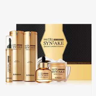 Dr.phamor DR. PHAMOR - McCELL SKIN SCIENCE 365 Syn-Ake Gold Special Limited Edition: Toner 120ml + Eye Serum 15ml + Ampoule 30ml + Emulsion 120ml + Cream50ml 5pcs