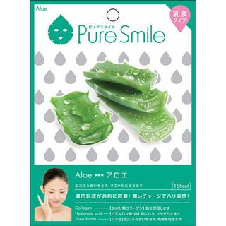 Sun Smile - Pure Smile Essence Mask Series For Milky Lotion (Aloe) 1 pc