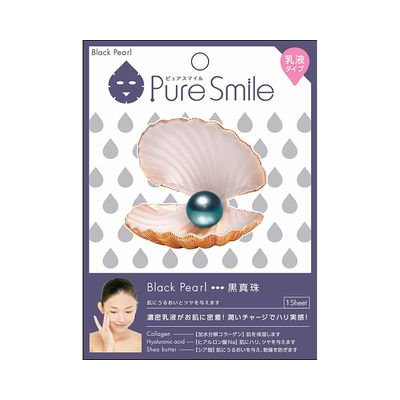 Sun Smile - Pure Smile Essence Mask Series For Milky Lotion (Black Pearl) 1 pc