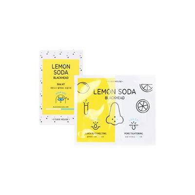 Etude House - Lemon Soda Blackhead Dual Kit: White Sheet 1pc + Black Sheet 1pc + Cotton Swab 2pcs 3pcs