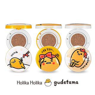 HOLIKA HOLIKA LAZY & EASY Gudetama Cushion Fall in Love Edition #21 15g*2 SPF50+ PA+++