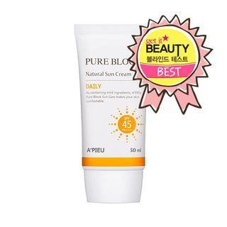 A'pieu APIEU - Pure Block Natural Daily Sun Cream SPF45 PA+++ 50ml 50ml