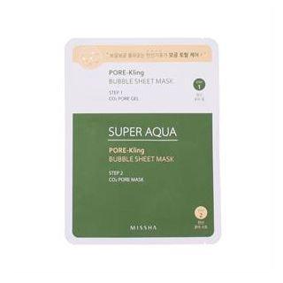Missha - Super Aqua Pore-kling Bubble Sheet Mask 1pc 1pc