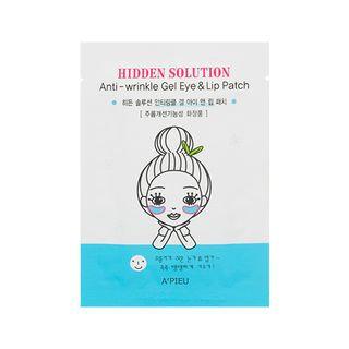A'pieu APIEU - Hidden Solution Anti-Wrinkle Gel Eye & Lip Patch (2pcs) 2pcs