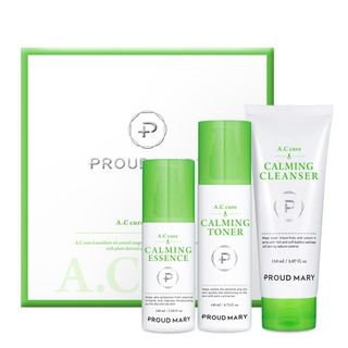 PROUD MARY - A.C Cure Calming Gift Set: Cleanser 150ml + Toner 140ml + Essence 100ml 3pcs