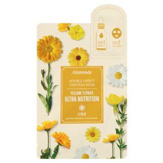 Mamonde Double Effect Ampoule Mask - Yellow Flower Ultra Nutrition