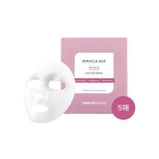 THANK YOU FARMER - Miracle Age Repair Cotton Mask 5pcs 25ml x 5pcs