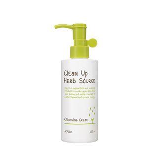 A'pieu APIEU - Clean Up Herb Source Cleansing Cream 250ml 250ml