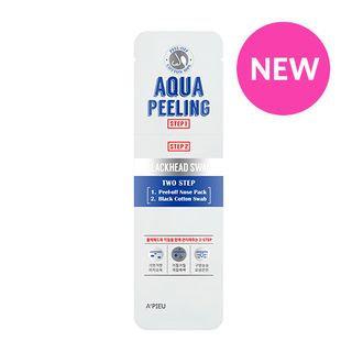 A'pieu APIEU - Aqua Peeling Black Head Swab: Nose Pack 2.5ml + Cotton Swab 3ml 2pcs