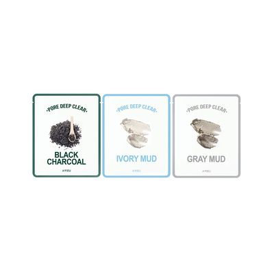 A'pieu APIEU - Pore Deep Clear Mask 1pc (3 Types) Gray Mud