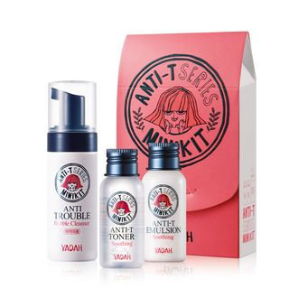 YADAH - Anti-T Mini Kit: Bubble Cleanser 40ml + Toner 30ml + Emulsion 30ml 3pcs