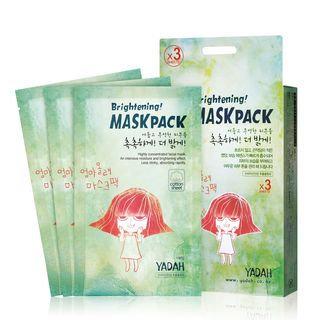 YADAH - Brightening Mask Pack 3pcs 3pcs