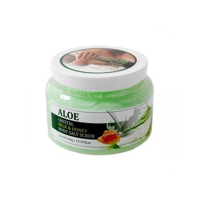 Rainbow Beauty - SOC Crystal Milk & Honey Body Salt Scrub (Aloe) 390g 390g