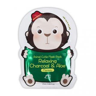 Rainbow Beauty - SOC Animal Cuite Mask Pack Relaxing Charcoal & Aloe (Monkey) 1pc 1pc