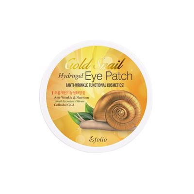 esfolio - Gold Snail Hydrogel Eye Patch 60pcs 60pcs (30 pairs)