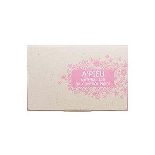 A'pieu APIEU - Natural 100 Oil Control Paper 100pcs 100pcs