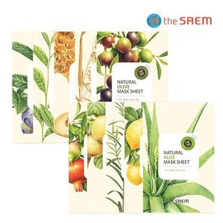 The Saem - Natural Mask Sheet 1pc (20 Flavors) Green Tea