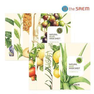 The Saem - Natural Mask Sheet 1pc (20 Flavors) Gold Kiwi