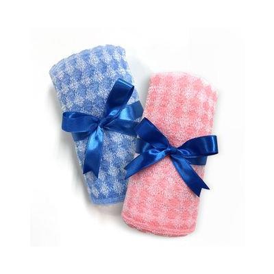 Label Young - Shower Towel (Blue + Pink) 2pcs