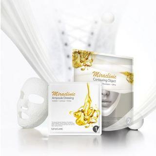 MAXCLINIC - Miraclinic Plaster Corset Mask Set: Ampoule Dressing 36ml x 4pcs + Contouring Object 16ml x 4pcs 8pcs